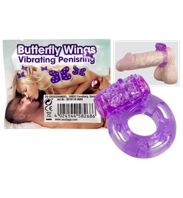 Δαχτυλίδι πέους Butterfly 1 χρ. 40min
