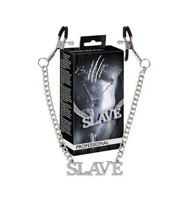 Κλιπσάκια θηλών με αλυσίδα SLAVE Professional