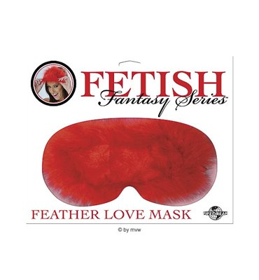 Fetish Fantasy Feather Love Mask - Red