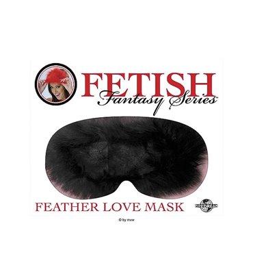 Fetish Fantasy Feather Love Mask - Black