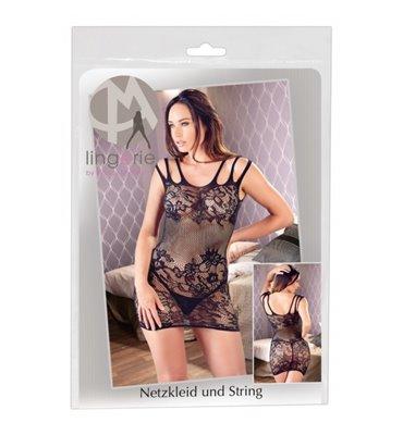 Μίνι Φόρεμα Διχτυωτό με Σχέδιο S-L