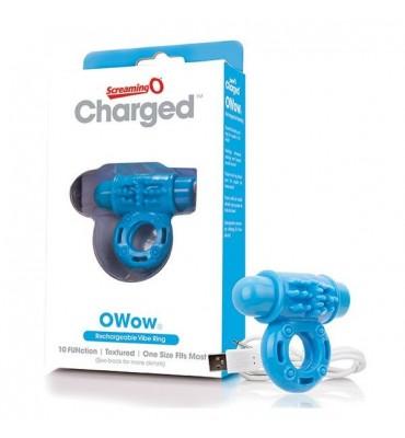 Δαχτυλίδι Δόνησης Charged OWow Μπλε The Screaming O 12433