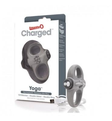 Δαχτυλίδι Δόνησης Charged Yoga Γκρι The Screaming O SCYVVG